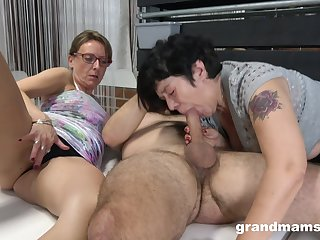 Matures share a big dick in ways they never patriarch before
