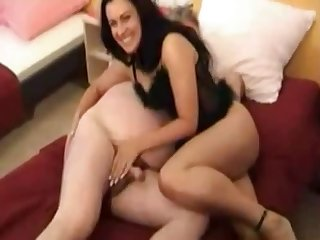 Lewd natural brunette is accessible to toothsome older man nigh some handjob