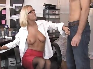 Office pussy licking on eradicate affect table and a blowjob ends eradicate affect day