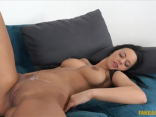 Awesome gloominess Kitty Lovedream moans via sex roughly the agent