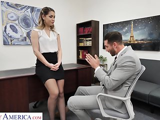 Hot female boss Alina Lopez wants her nemesis employee thither dear one her good