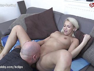 MyDirtyHobby - Shy blonde fitness babe swallows at her first players