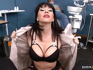 Mature girl Rayveness takes a large dick in her tight holes