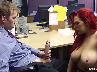 Office sex on the table and floor involving secretary Paige Delight