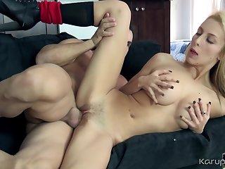 The sexiest blonde Samantha Nixon fucked hard