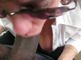 My boss evermore makes me stay do research work because she without equal loves my dusky cock