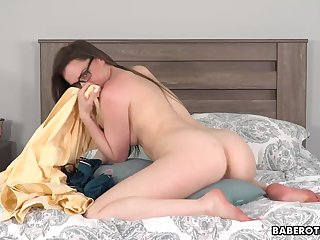 Solo brunette, Tori Black is humping a pillow,