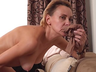 Oliya can never get tired of playing with her coitus toy plus cumming