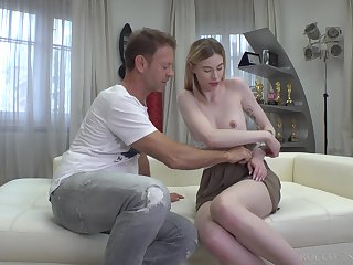 Six foot Russian call someone to account Milena Devi fucks a man that's older than her