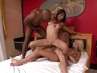 Sultry Fernanda Alencar enjoys an interracial array bang