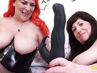 OldNannY Duo British Mature Lesbians Together