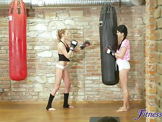 Fit chick Katy Rose gets fucked by her personal tutor at the gym