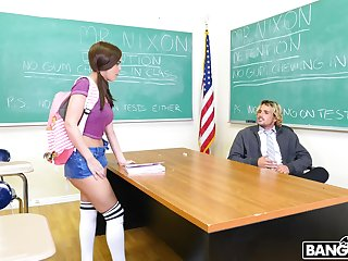 Cock hungry impenetrable Dillion Harper gets fucked by a naughty tutor