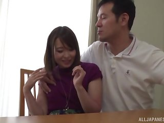 Closeup video of impassioned having it away with a cute Japanese darling