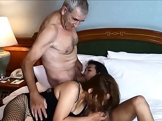 Cuckold by Asian ladyboy for Thai MILF fit together and her husband