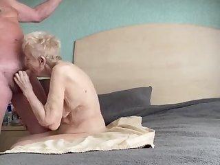 Beautiful thankful older grannie