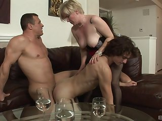 Impoverished action for a pair of bi-sexual lovers and a mature